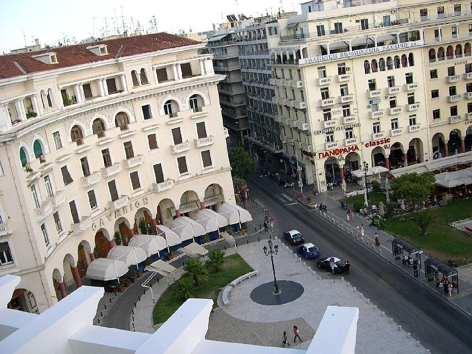 Looking down at Aristotelous Sq Thessaloniki 2005