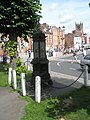 Looking from the drinking fountain towards the parish church - geograph.org.uk - 1466871.jpg