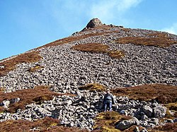 Looking up the north west slopes to the summit of Maiden Pap. - geograph.org.uk - 388491.jpg