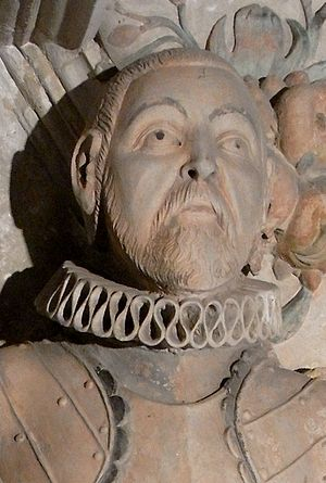 Lord Edward Seymour (died 1593) - Lord Edward Seymour (d.1593) of Berry Pomeroy, Devon. Detail from his monument in Berry Pomeroy Church