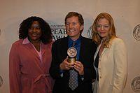 Loretta Devine, David E. Kelley, and Jeri Ryan, May 2003 (7).jpg