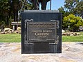 Los Angeles, CA, Griffith Griffith Statue Inscription, Griffith Park Entrance, 2010 - panoramio.jpg
