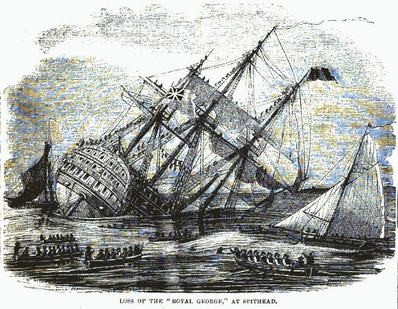 Loss of the Royal George, at Spithead (1871)