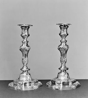 François-Thomas Germain - Germain is thought to have introduced this popular model of candlestick in Paris in 1757-1758.