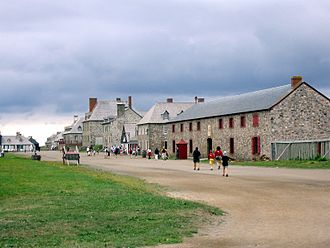 Fortress of Louisbourg - Beginning in 1961, the Government of Canada rebuilt one quarter of the town, and its fortifications.