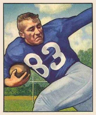 Lowell Tew - Tew on a 1950 Bowman football card