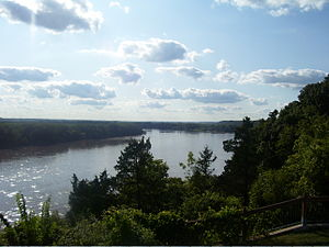 Missouri River - A relatively undeveloped reach of the river near Rocheport, Missouri