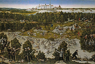 Hunt at the Castle of Torgau in honour of Ferdinand I