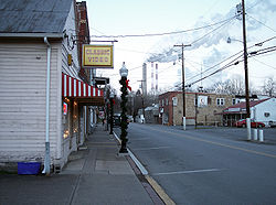 Main Street (West Virginia Route 20) in Lumberport in 2006