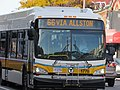 MBTA route 66 bus at Commonwealth Avenue, November 2016.jpg