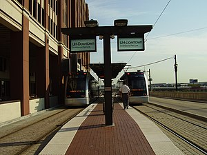 METRORail Red Line - UH–Downtown, the northern terminus of the line for nearly 10 years