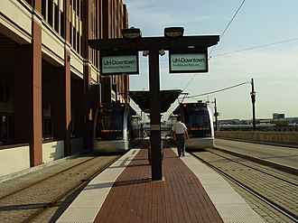 UH–Downtown (METRORail station) - Image: METRORAILUH Downtown