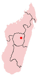 Location of Antananarivo in Madagascar