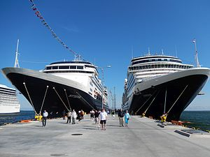 Holland America Line - The MS Rotterdam and MS Eurodam docked in Tallinn Estonia