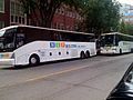 MVP Buses loading at 1910 North Charles Street, 2 blocks from Baltimore Penn Station.jpg