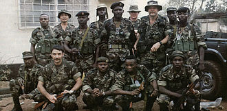 Sierra Leone Civil War - SLA soldiers and advisers