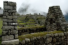 The residential section of the Incan city of Machu Picchu.
