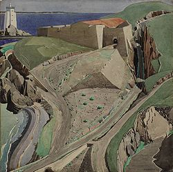 The Fort, circa 1925 - 1926. Fort Mailly, a ruined 16th-century fortification on the outskirts of Port Vendres.