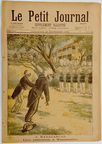 Joseph Gallieni - Execution of two Malagasy officials under order of General Gallieni