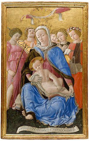 Pinacoteca Nazionale (Siena) - Image: Madonna of humility 1433 Domenico di Bartolo