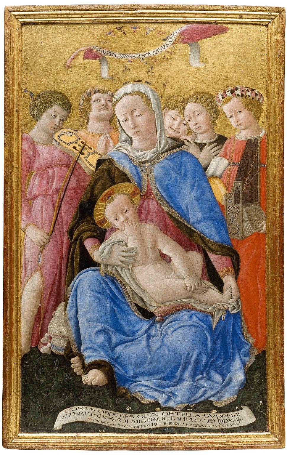 Madonna-of-humility- 1433 Domenico di Bartolo