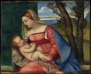 Titian hair - Image: Madonna and Child MET DT5274