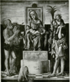 Madonna and Child enthroned with SS. Onophrius,Jerome, Christopher and Bishop Saint, ad Altobella Avogadro.png