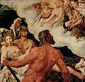 Maerten van Heemskerck, , Kunsthistorisches Museum Wien, Gemäldegalerie - Vulkan zeigt den Göttern die in seinem Netz gefangenen Venus und Mars - GG 6395 - Kunsthistorisches Museum.jpg