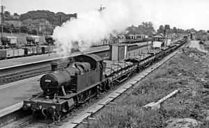 Magor railway station - Magor station in 1961