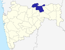 Location of Amravati district