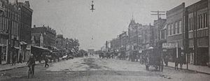 Norman, Oklahoma - Main Street in Norman, circa 1900