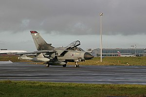 Newcastle Airport - Royal Air Force Tornado GR4 at Newcastle Airport