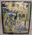 Maiolica di urbino, francesco xanto avelli, adorazione dei pastori, 1537.jpg