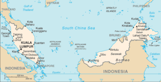 Outline of Malaysia - An enlargeable map of Malaysia
