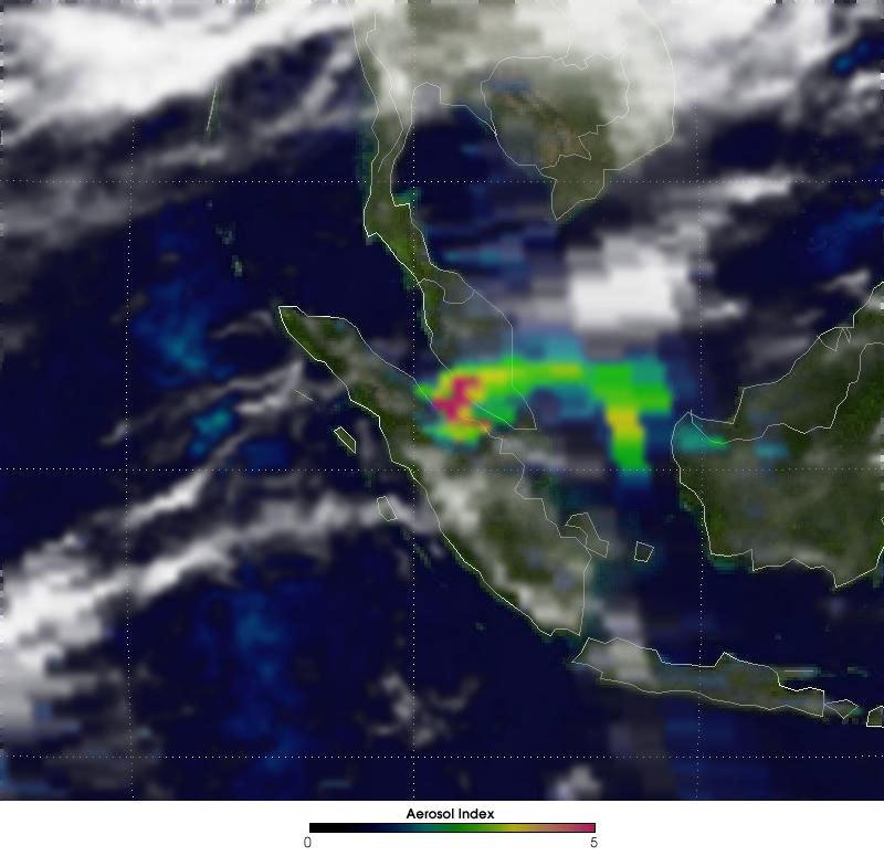 Malaysian Haze 2005 Aerosol Index