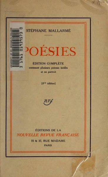 File:Mallarmé - Poésies, 1914, 8e éd.djvu