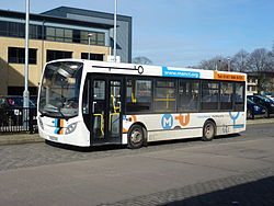 Manchester Community Transport bus (YX60 DYB), 16 February 2013.jpg