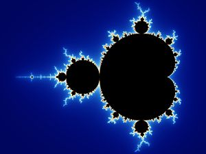 Aesthetics - Initial image of a Mandelbrot set zoom sequence with continuously coloured environment