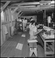 Manzanar Relocation Center, Manzanar, California. Staff of the Manzanar Free Press at work. This i . . . - NARA - 538168.tif