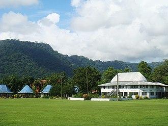 Fiame Mata'afa Faumuina Mulinu'u II - Residence in Lepea village, home of his matai chief title Faumuina.