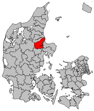 Randers Municipality - Image: Map DK Randers