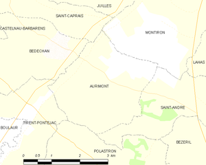 Aurimont - Aurimont and its surrounding communes