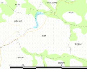 Map commune FR insee code 33308.png