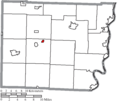 Map of Belmont County Ohio Highlighting Belmont Village.png