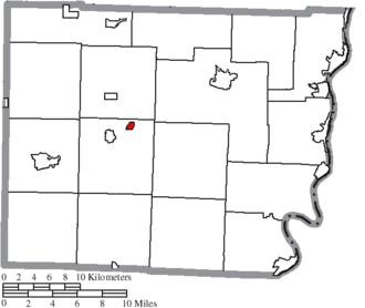 Belmont, Ohio - Image: Map of Belmont County Ohio Highlighting Belmont Village
