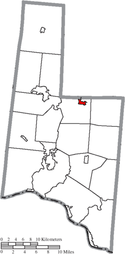 Location of Sardinia in Brown County