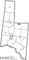 Map of Brown County Ohio Highlighting Sardinia Village.png