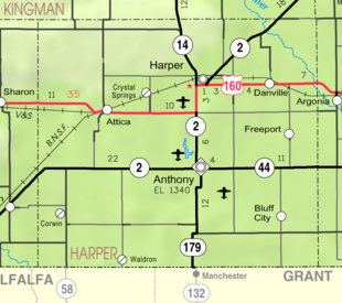 Map of Harper Co, Ks, USA.png