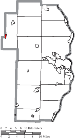 Location of Amsterdam in Jefferson County
