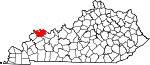 State map highlighting Henderson County